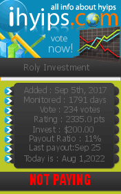 ihyips.com - hyip roly investment